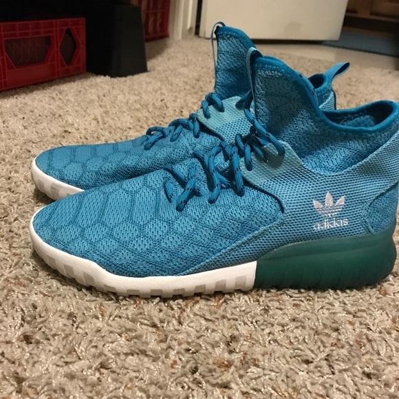 Adidas zapatos tubular x primeknit colorway poshmark Aqua